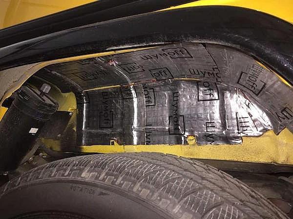 шумоизоляция арок колес авто снаружи