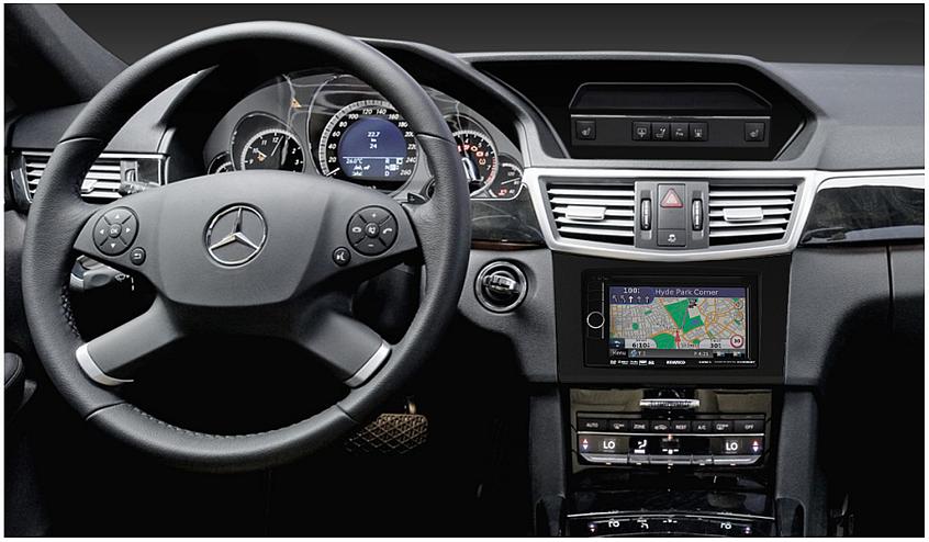 замена штатной магнитолы Mercedes E-Class кузов W212 2010-2016