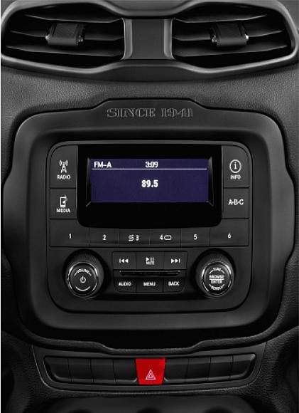 штатная магнитола jeep renegade 2015+