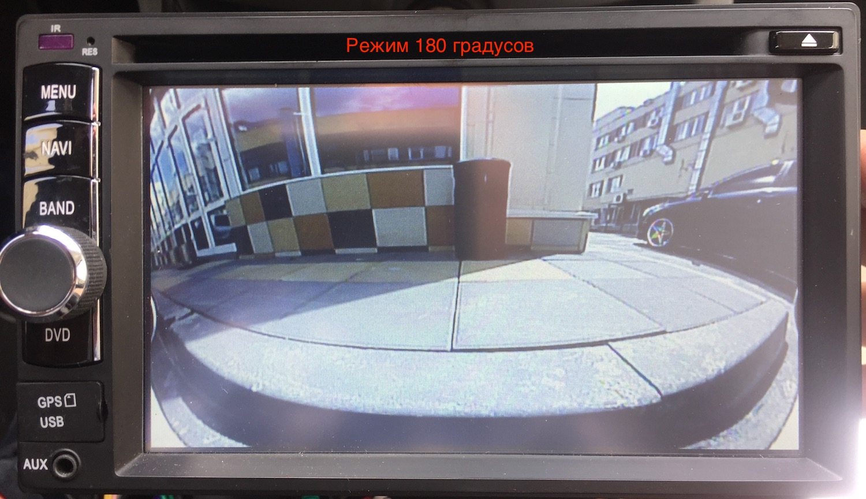 "камера заднего вида ""рыбий глаз"" 180 градусов FitCar FTC-180"