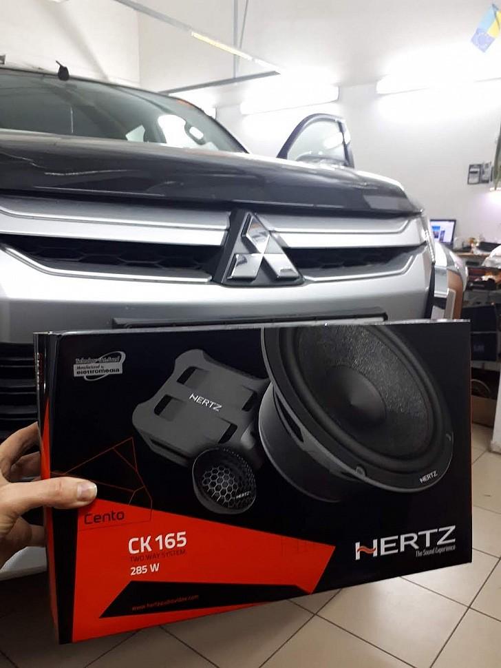 Hertz CK 165 с шумоизоляцией дверей для Mitsubishi L200