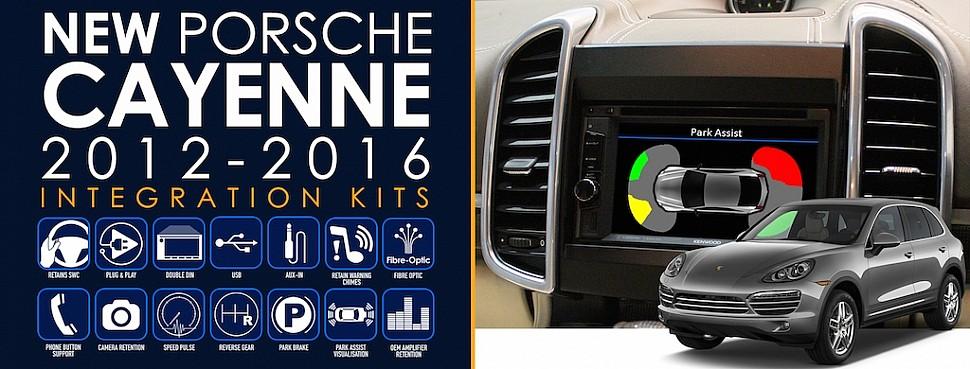 Замена штатной магнитолы в Porsche Caynne 2012-2016 с помощью комплекта Connects2
