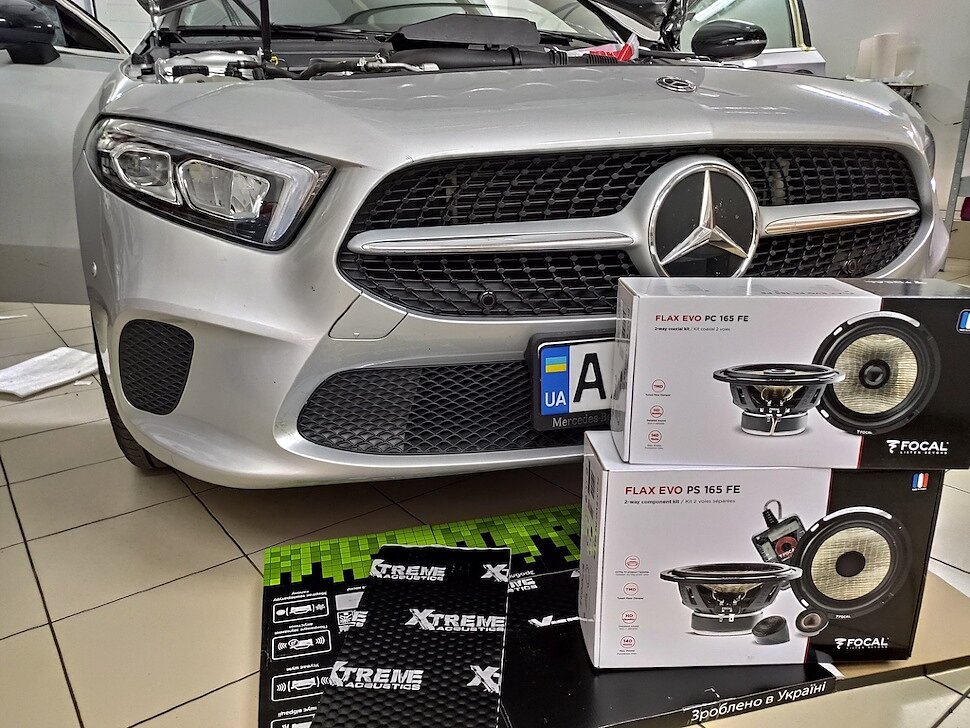 Замена штатного звука Mercedes A-Class V177 на Focal