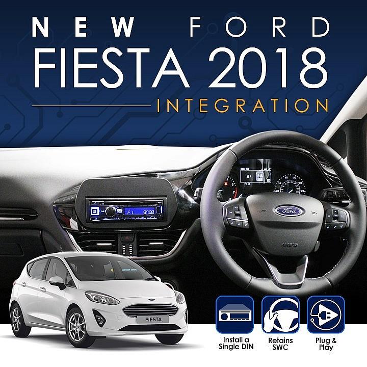 Замена штатной магнитолы Ford Fiesta 2018+ с помощью комплекта Connects2