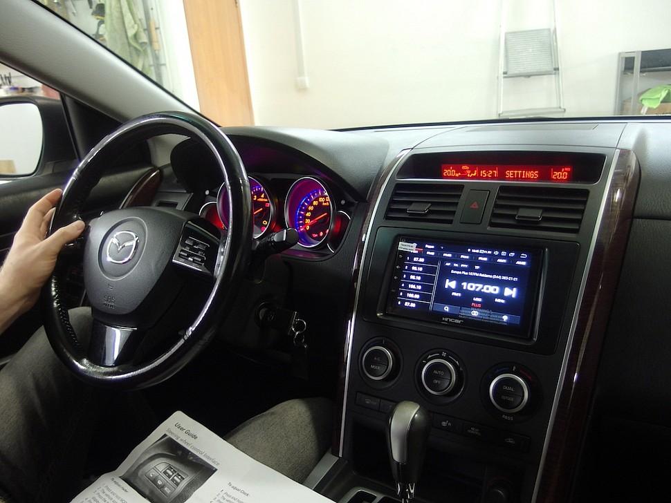 замена штатной магнитолы Mazda CX-9 с сохранением работы усилителя Bosr и настройки бортового компьютера